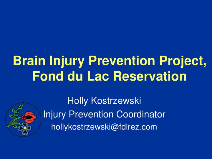 brain injury prevention project fond du lac reservation n.