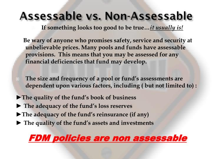 Assessable vs. Non-Assessable