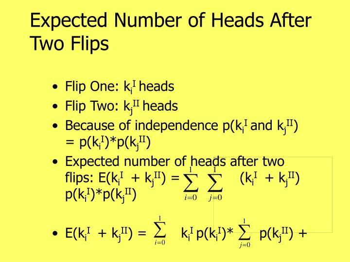 Expected Number of Heads After Two Flips