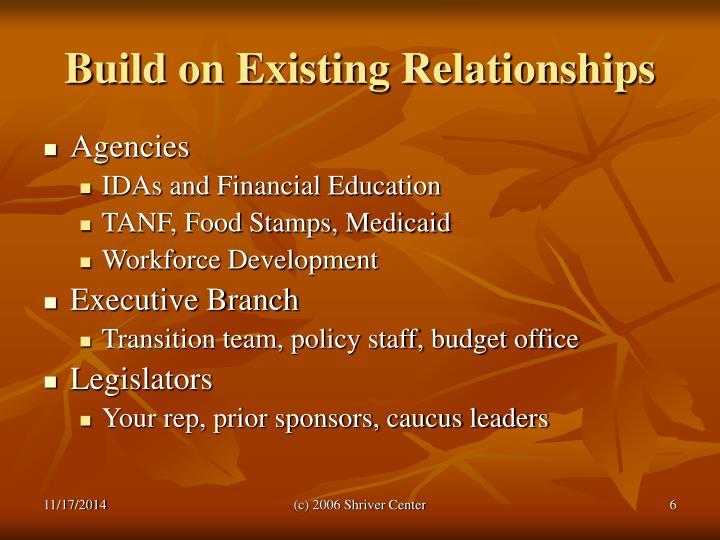 Build on Existing Relationships