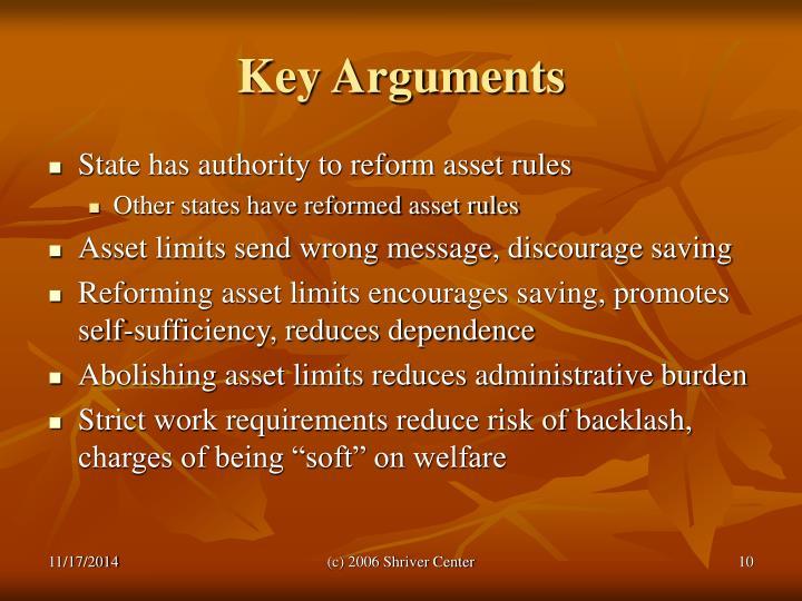 Key Arguments