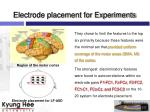 electrode placement for experiments