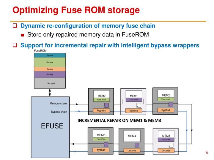 Optimizing Fuse ROM storage