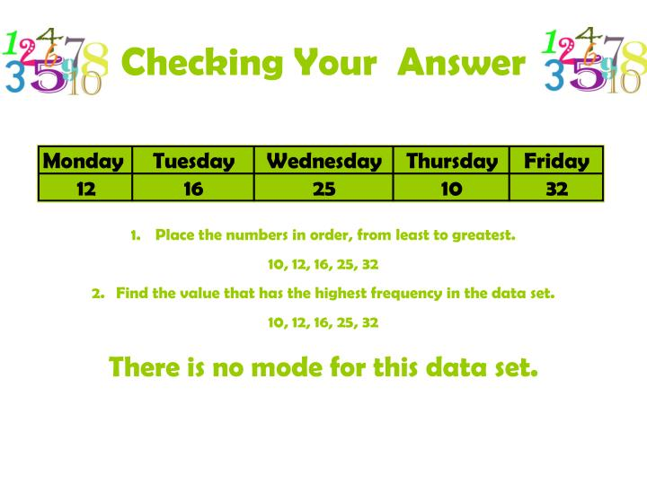 Checking Your  Answer