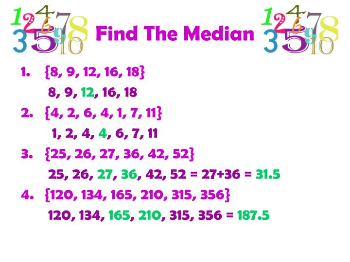 Find The Median
