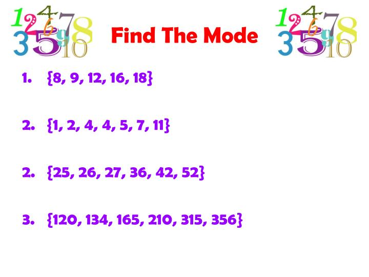 Find The Mode