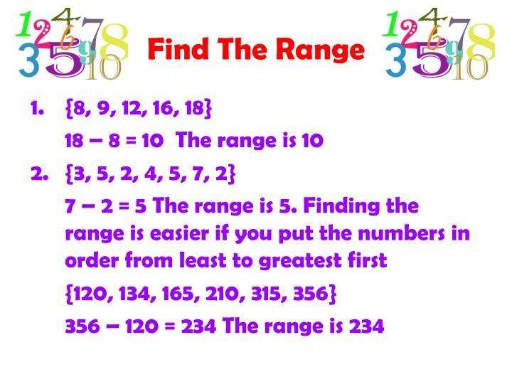 Find The Range