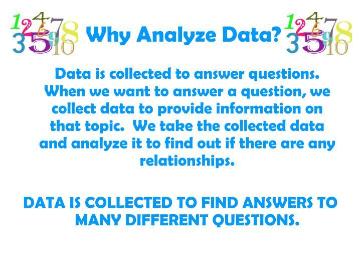 Why analyze data