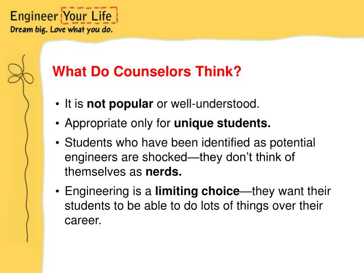 What Do Counselors Think?