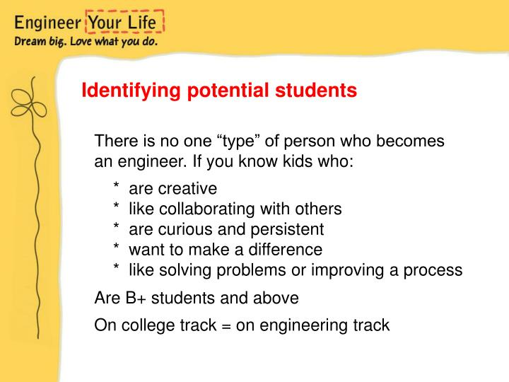 Identifying potential students