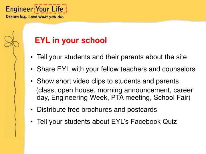 EYL in your school