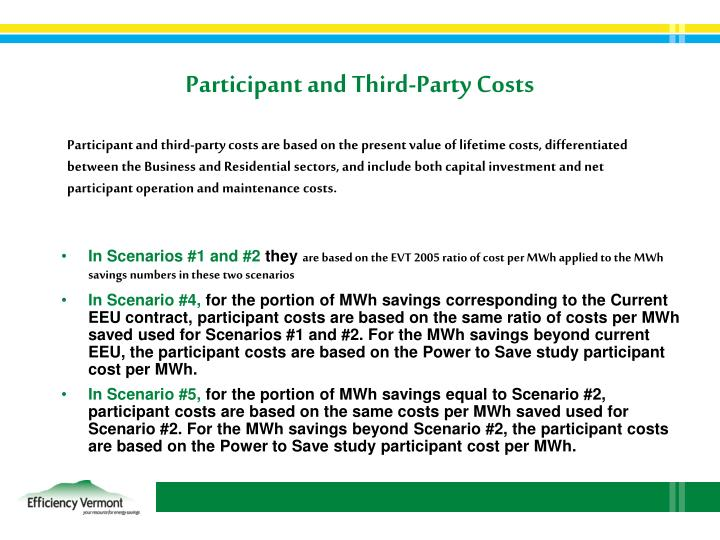 Participant and Third-Party Costs