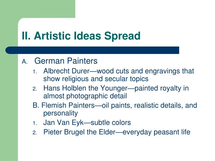 Ii artistic ideas spread