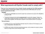 what requirements will equifax canada need to comply with