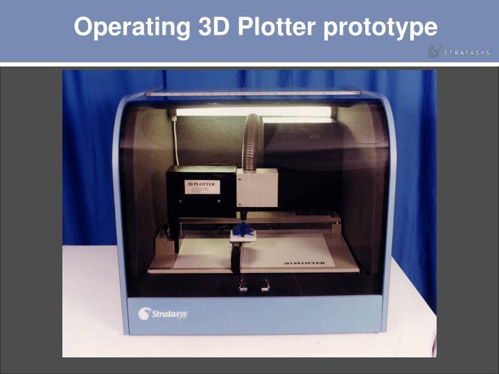 Operating 3D Plotter prototype