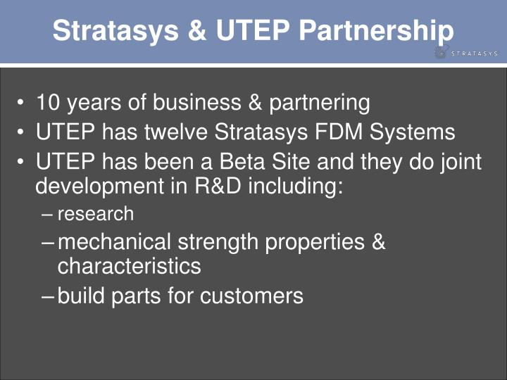 Stratasys utep partnership