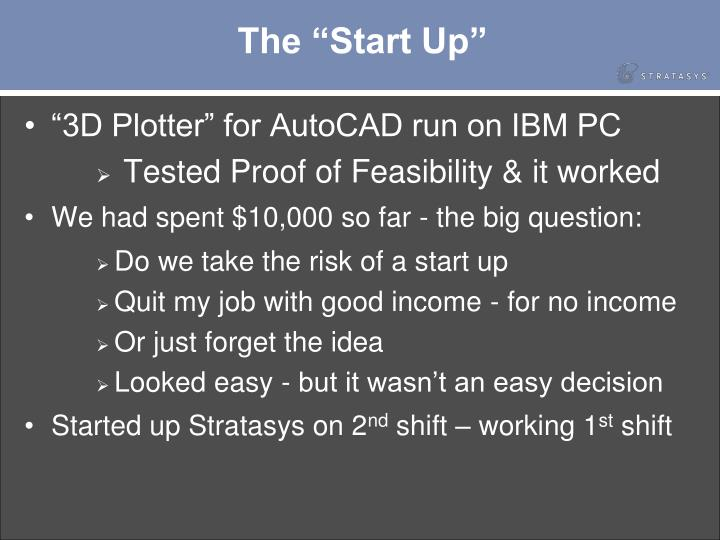 """The """"Start Up"""""""