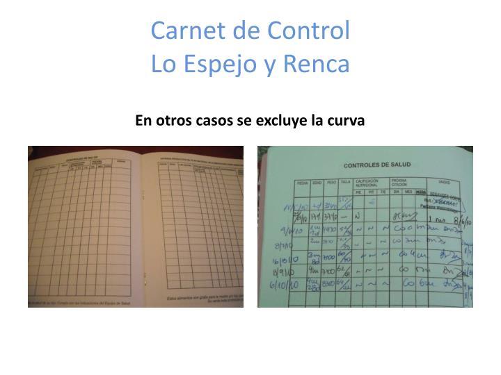Carnet de Control