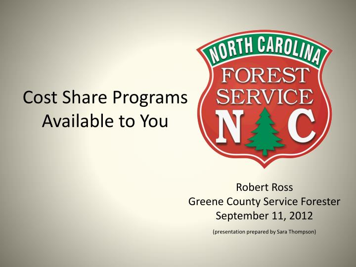 Cost Share Programs