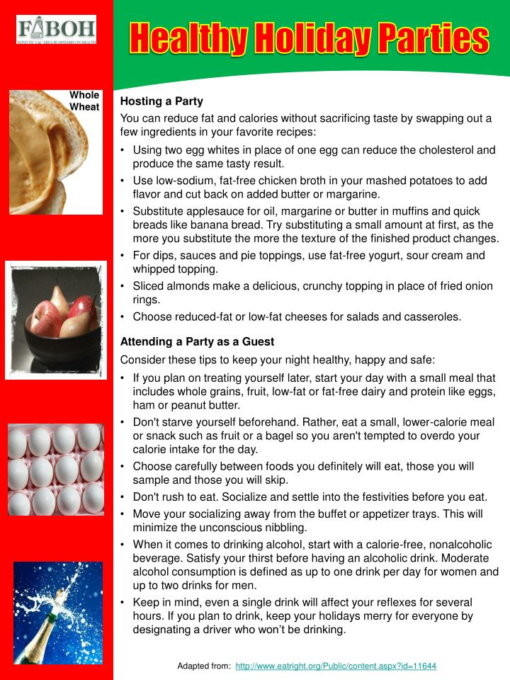 Healthy Holiday Parties