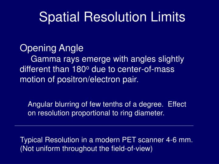 Spatial Resolution Limits