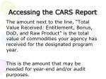 accessing the cars report8