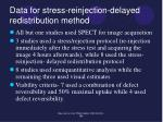 data for stress reinjection delayed redistribution method1