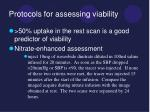 protocols for assessing viability