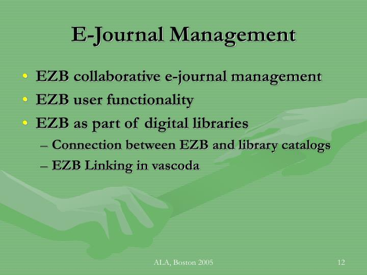 E-Journal Management