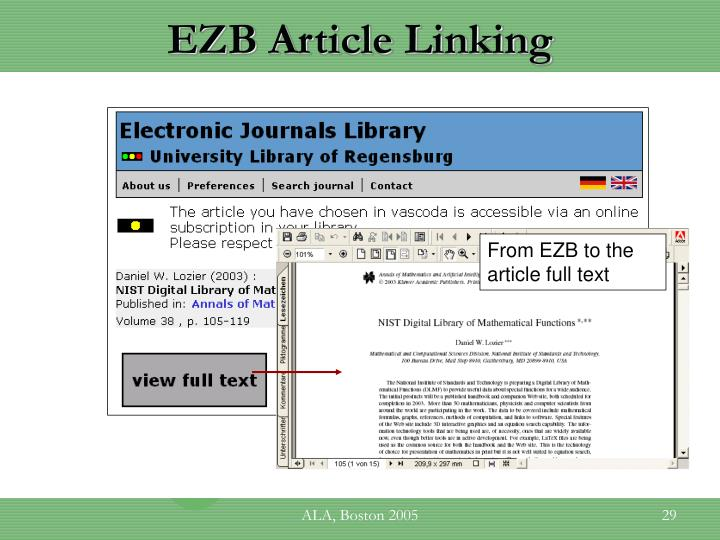 EZB Article Linking