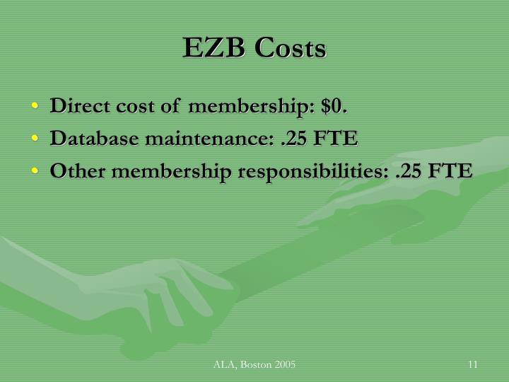EZB Costs