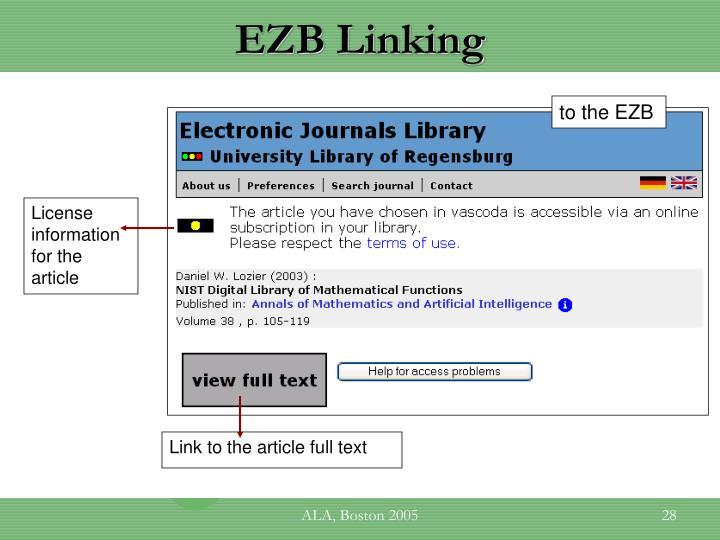 EZB Linking