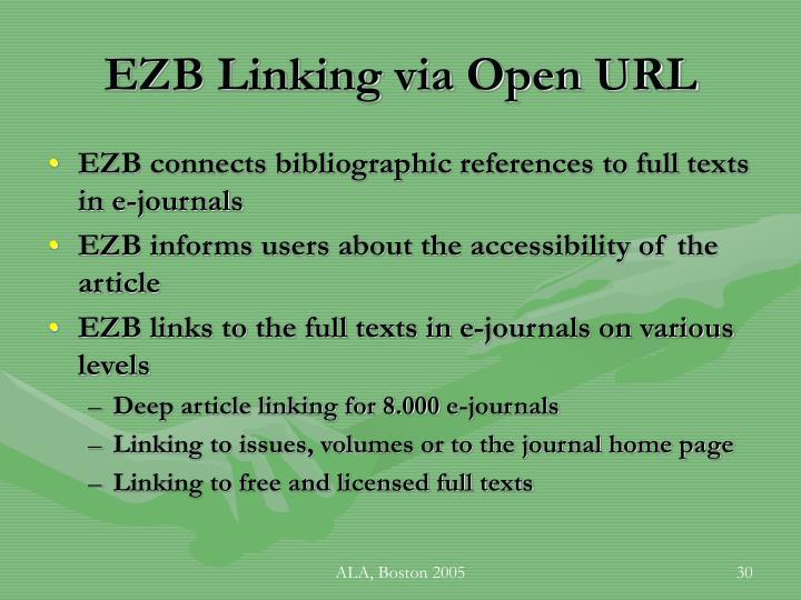EZB Linking via Open URL