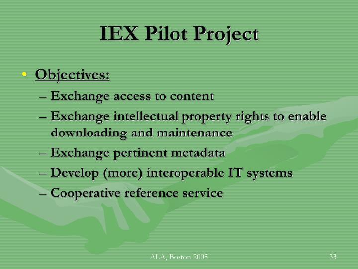 IEX Pilot Project