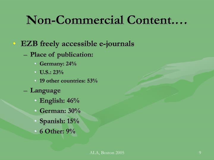 Non-Commercial Content.…
