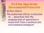 oil gas operations environmental protection