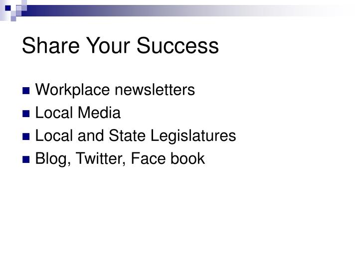 Share Your Success