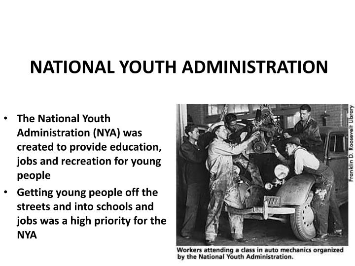 NATIONAL YOUTH ADMINISTRATION