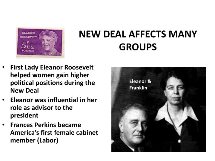 NEW DEAL AFFECTS MANY GROUPS