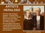 artists heralded