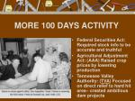more 100 days activity