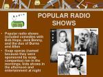 popular radio shows