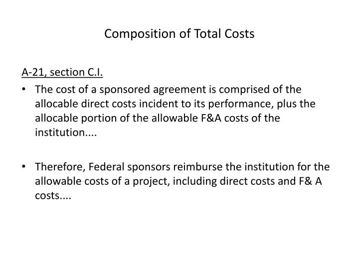 Composition of Total Costs