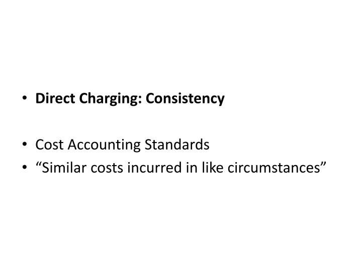 Direct Charging: Consistency