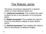 the robotic joints1
