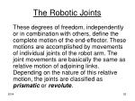 the robotic joints2