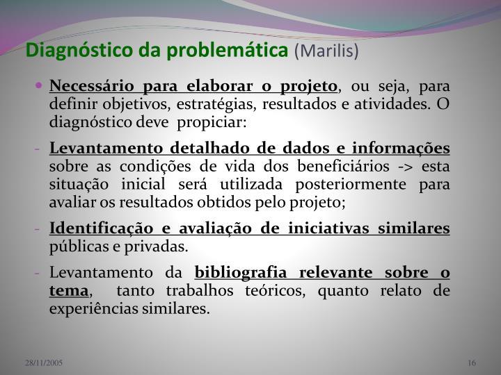 Diagnóstico da problemática
