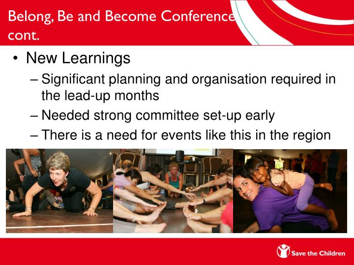 Belong, Be and Become Conference