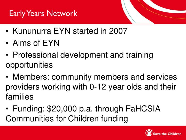 Early Years Network