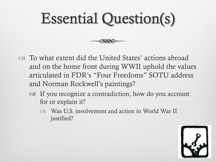 Essential Question(s)